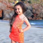 Payetli Neon Tek Omuz Elbise